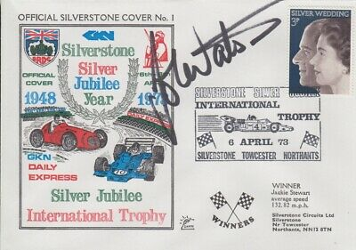 John Watson Hand Signed Silverstone Silver Jubilee Year First Day Cover.