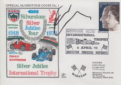 Chase Carey Hand Signed Silverstone Silver Jubilee Year First Day Cover.