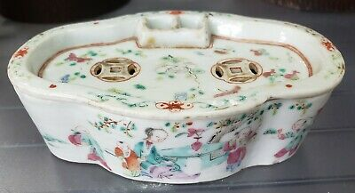 Circa 18th/19th Cent. Chinese Famille Rose Soft Paste Porcelain Cricket Cage Box