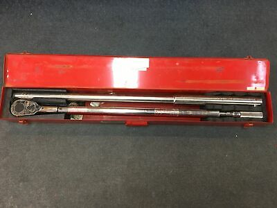 """LARGE Wright Tool 8447 70"""" torque wrench 200 - 1,000 Ft lbs 1"""" drive in case"""
