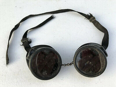 Vintage Antique Wilson Welding Goggles Motorcycle Steampunk Safety Glasses