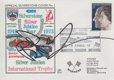 Brian Redman Hand Signed Silverstone Silver Jubilee Year First Day Cover.
