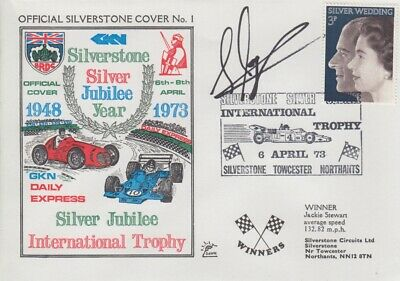 Steve Soper Hand Signed Silverstone Silver Jubilee Year First Day Cover.