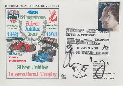 Adrian Newey Hand Signed Silverstone Silver Jubilee Year First Day Cover.
