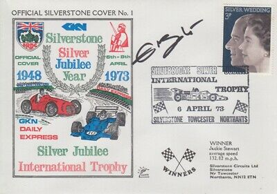 Ellen Lohr Hand Signed Silverstone Silver Jubilee Year First Day Cover.