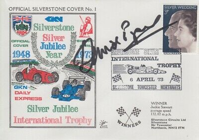 David Piper Hand Signed Silverstone Silver Jubilee Year First Day Cover.