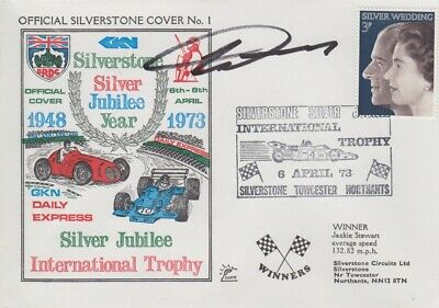 Howden Ganley Hand Signed Silverstone Silver Jubilee Year First Day Cover.