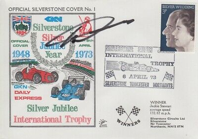Howden Ganley Hand Signed Silverstone Silver Jubilee Year First Day Cover 1.