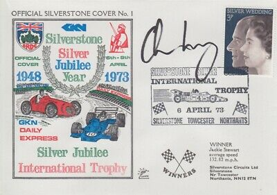 Adrian Newey Hand Signed Silverstone Silver Jubilee Year First Day Cover 1.