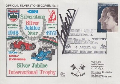 Henri Pescarolo Hand Signed Silverstone Silver Jubilee Year First Day Cover 3.