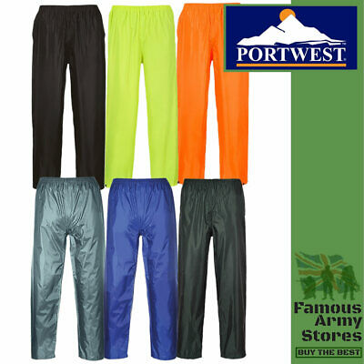 Waterproof Rain Trousers Mens Womens Lightweight Over Pant Adult Portwest Active