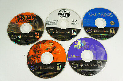 5 Nintendo Gamecube Game Disc Only Lot Ghost Recon 2 Spawn Legends of Wrestling