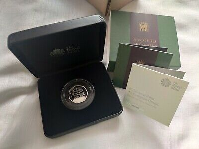 Official UK 2020 Brexit 50p Silver Proof Coin from Royal Mint 31st January Date