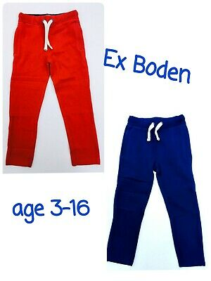 Boys Joggers Sweatpants BODEN Age 3-16 Years Red Blue