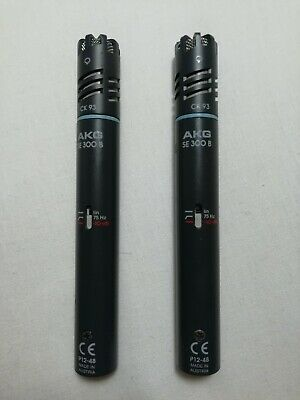 Pair of AKG SE 300b CK93 Condenser Cable Professional Microphone