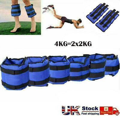 NEW Ankle Weights Adjust Leg Wrist Strap Running Training Fitness Gym Straps 4kg