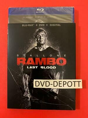 Rambo: Last Blood Blu-ray + DVD + Digital & Slipcover New FAST Free Shipping