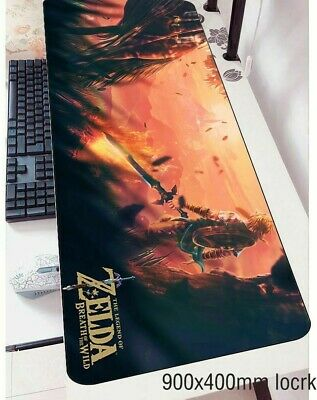 Zelda Print Gaming Mousepad Large Rubber Computer Keyboard Mat Gamer Desk Pads