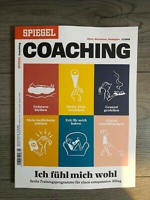 "Spiegel Coaching Ideen,Motivation, Strategien 1/2020""Ich fühl mich wohl"" 1A Zust"