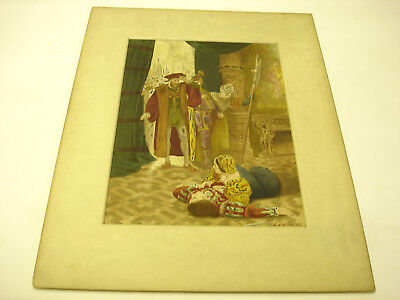 Water Color The Great Operas Portrait Artist Signed D. Graves Old Antique LOOK