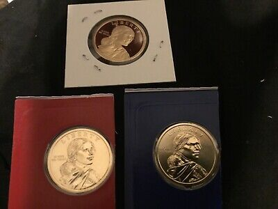 2019 P+D+S Native American Sacagawea Proof Mint Set PD Pos A and B 9 Coin Set