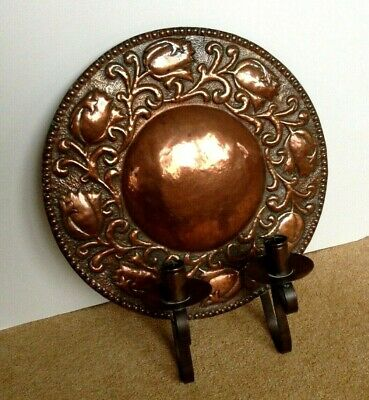 Arts and Crafts Copper Wall Sconce Circa 1900