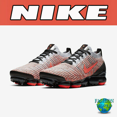 Nike Men's Size 12 Air Vapormax Flyknit 3 Running Shoes Bright Mango AJ6900-800