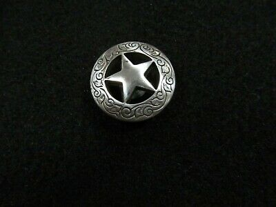 Texas Star Half Dollar Screw Back Button