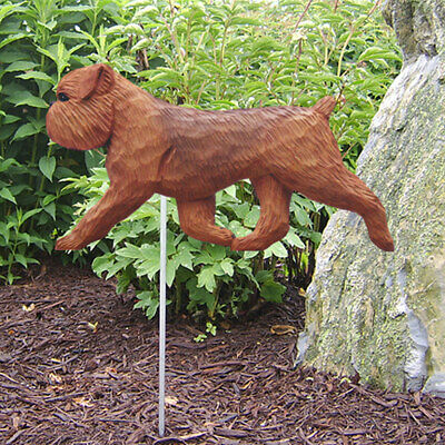 Brussels Griffon Outdoor Garden Dog Sign Hand Painted Figure Red