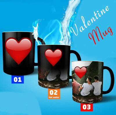"Personalised Mug ""Valentine Present Gift Cup"" Custom Magic Tea/Coffee Mug"