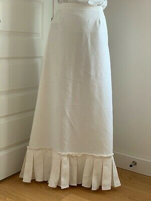 Petticoat/underskirt Late Victorian style ladies, maxi full length box pleated