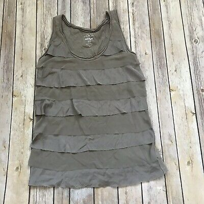 Women's Old Navy Ruffled Tank Top Shirt Pewter Gray Size Small