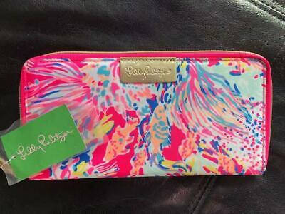 NEW $58 Lilly Pulitzer Travel Wallet Clutch Dragonfruit Pink Sunken Treasure