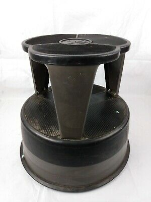 Vintage Kik Step Stool Cramer Rolling Metal Stool Spring Loaded