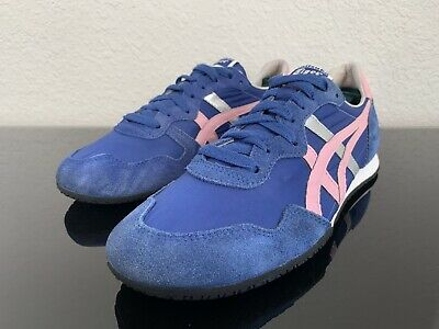 Onitsuka Tiger Serrano D159L Women's 9 Euro 40.5 Men 7.5 Royal Blue Pink Accent