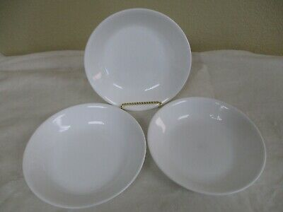 """Set Of 3 - Corelle By Corning Winter Frost White 8.5"""" Pasta/Salad Bowls"""