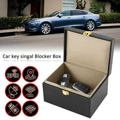 Faraday Box Car Key Signal Blocker Box Keyless Entry Fob Jammer RFID Key Box F