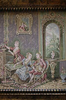 Vintage Collectable Art: Tapestry In Antique Frame
