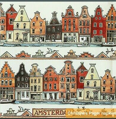 3 Paper napkins for Decoupage/Decopatch/Craft-Amsterdam
