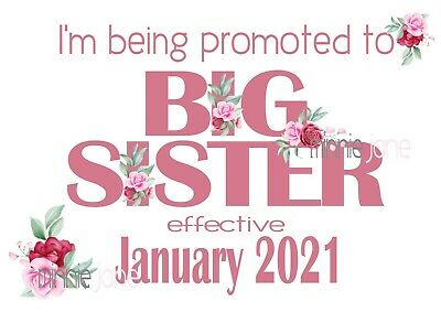 Printable Big Sister Announcement Sign - New Baby Maternity