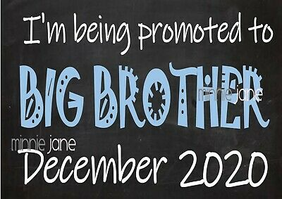 Printable Big Brother  Announcement Sign - New Baby Maternity Brother to be
