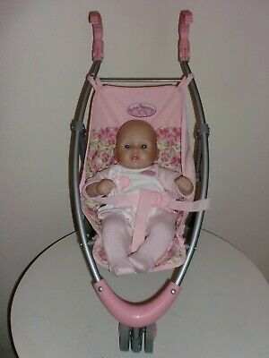 """Zapf Creation Baby Annabell 3 Wheeled Buggy & 12"""" Annbell Doll"""