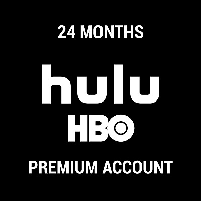 Hulu Premium Subscription With Hbo / No Ads Or Commercials / 24 Months / Instant