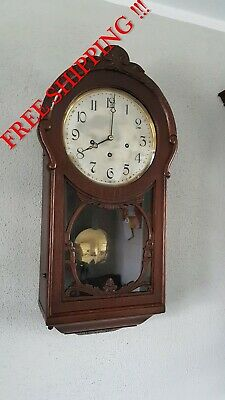0298 - VERY  Rare Antique Berger & Würker  Westminster chime wall clock