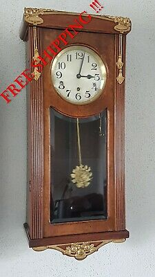 0297 -  Antique German Westminster chime wall clock French style NOT Odo