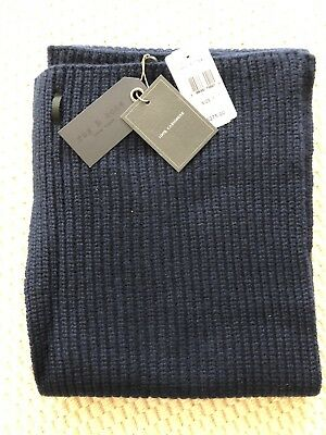 $275 Rag & Bone Navy Blue Cashmere Carson Scarf - Brand New With Tags