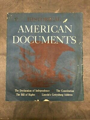HistoricalAmerican Documents Set of 4 Reproductions of Famous American Documents