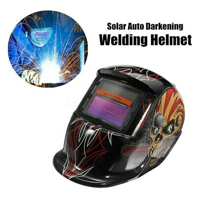 Solar Powered Auto-Darkening Welding Helmet Grinding Welder Breathable Mask