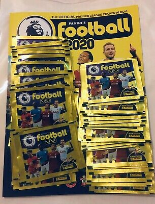 50 Sealed Packets Panini FOOTBALL Stickers 2020 Premier League & Album UK Items