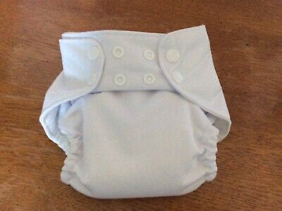 All in One Fitted Cloth Diaper w/soaker fits 7-16 lbs